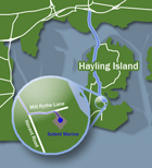 Map Hayling Small